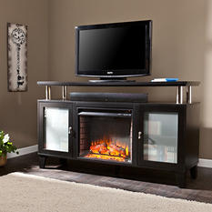 Matrix Media Console Fireplace  - Black