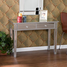 Illusion Mirrored 2 Drawer Console Table