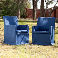 Hampton Outdoor Easy Chairs 2-Piece Set