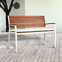 Nantucket Outdoor Bench - Soft White