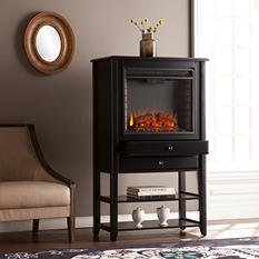 Mayer Convertible Electric Fireplace Corner Storage Tower