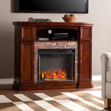 Sale burlington electric fireplace media console sc6539 for Best electric furniture