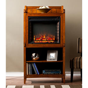 Park Hill Electric Fireplace Bookcase Tower