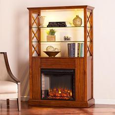 Elkhorn Electric Fireplace Curio Cabinet