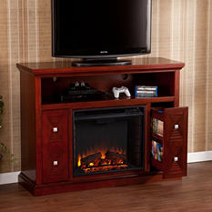 Tandard Media Console Fireplace - Cherry