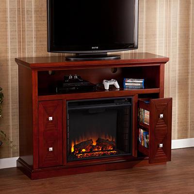 Tandard Media Console Fireplace - Cherry