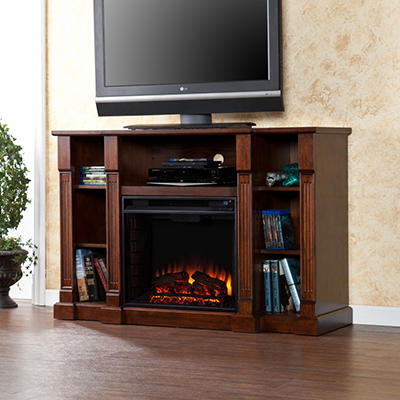 Athena Media Console Fireplace - Espresso