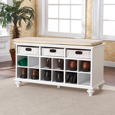 Bastian Entryway Bench - White