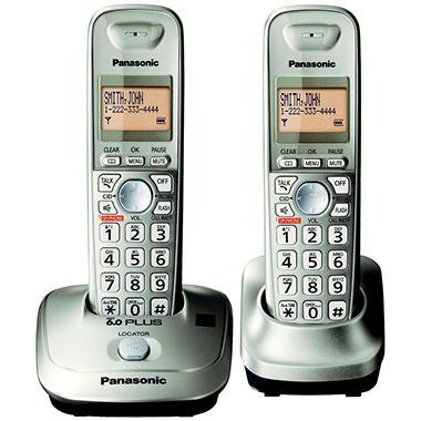 Panasonic DECT 6.0 PLUS Expandable Digital Cordless Telephone with 2 Handsets