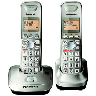 Panasonic DECT 6.0 PLUS Expandable Digital Cordless Telephone with 2 Handsets