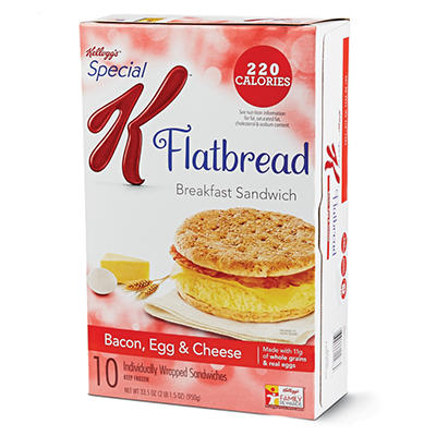 Special K Bacon, Egg, and Cheese Flatbread - 33.5 oz. - 10 pk.