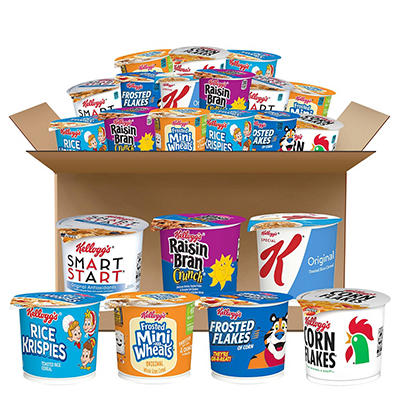 Kellogg's Cereal in a Cup - Classic Assortment Pack - 60 ct.
