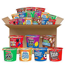 Kellogg's Cereal in a Cup - Favorite Assortment Pack - 60 ct. sku3604297