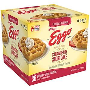 Kellogg's Eggo Strawberry Shortcake Belgian Waffle (36 ct.)