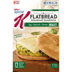 Kellogg's Special K Spinach, Egg and Cheese Breakfast Sandwich (12 ct.)