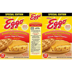 Eggo Bacon Egg and Cheese Sandwich (33.5 oz., 10 ct.)