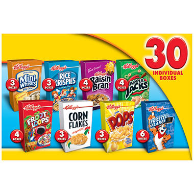 Kellogg's� Jumbo Cereal Assortment - 30 ct.