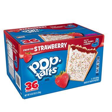 Kellogg's Pop Tarts Frosted Strawberry - 36 ct.