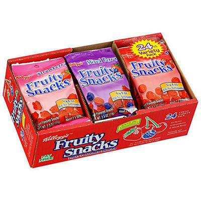 Kellogg's Fruity Snacks Variety Pack (2.5oz., 24ct.)