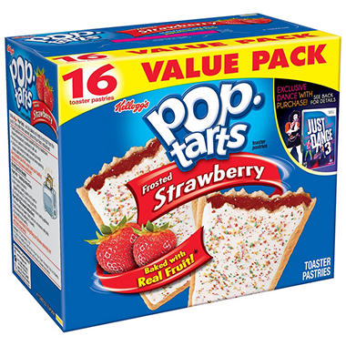 Kellogg's® Pop-Tarts® Frosted Strawberry Toaster Pastries - 16 ct.