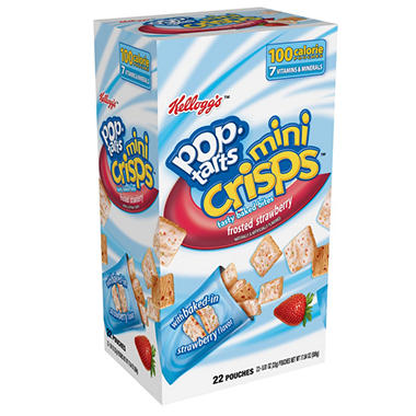 Kellogg's Pop-Tarts Mini Crisps - Frosted Strawberry - 17.84 oz. - 22 pk.