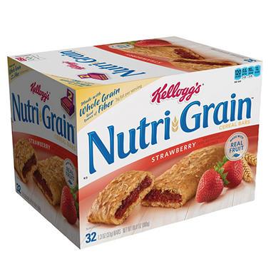Kellogg's Nutri-Grain Bars - Strawberry - 32 ct.