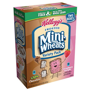 Kellogg's Frosted Mini Wheats Variety - Chocolate and Strawberry - 30.7 oz.