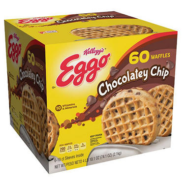 Eggo Chocolate Chip Waffles - 60 ct.