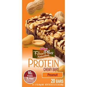 Kellogg's FiberPlus Protein Peanut Bars - 20 ct.