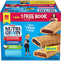 Kellogg's Nutri Grain Variety Pack (1.3 oz., 36 ct.)