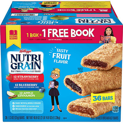 Kellogg's Nutri Grain Variety Pack (1.3oz, 36 ct.)