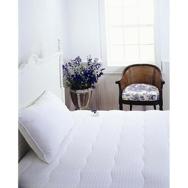 Serta® Electric Mattress Pad with 233 TC Damask Stripe - California King