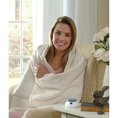 Serta� Micro-Fleece Electric Heated Throw - Beige