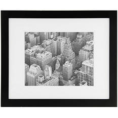 """Gallery Solutions 20"""" x 16"""" Black Frame with White Mat"""