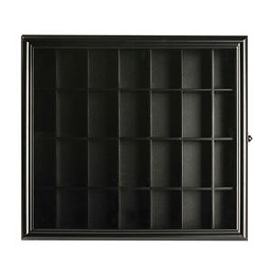 Gallery Solutions Shot Glass Display Case, Black