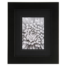 "Gallery Solutions 8"" x 10"" Black Frame with Black Mat"