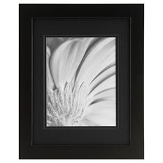 "Gallery Solutions 11"" x 14"" Black Frame with Black Mat"