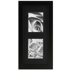 "Gallery Solutions 8"" x 20"" Collage Photo Frame, Black with Black Mat"