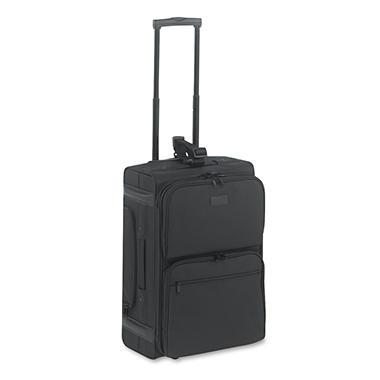 Kantek Rolling Dual-Side Laptop/Overnight Case, Nylon, Black