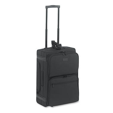 Kantek Rolling Dual-Side Laptop/Overnight Case, Nylon, Black