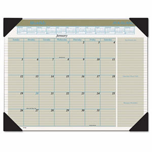 AT-A-GLANCE - Executive Monthly Desk Pad Calendar, 22 x 17, Buff -  2016