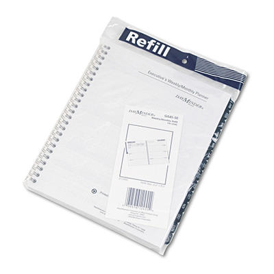 """DayMinder - Recycled Weekly Refill for G545, Desk, 6 7/8"""" x 8 3/4"""" -  2015"""