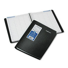 DayMinder - Four-Person Group Daily Appointment Book, 7 7/8 x 11, Black -  2016
