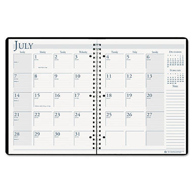 AT-A-GLANCE Recycled 16-Month Academic Desk Pad Calendar, 22