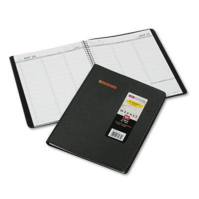 "AT-A-GLANCE Recycled Weekly Academic Appointment Book, Black, 8 1/4"" x 10/7/8"" -  2014-2015"