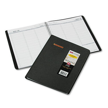 AT-A-GLANCE - Weekly Appointment Book, 8 1/4 x 10 7/8, Black -  2016-2017