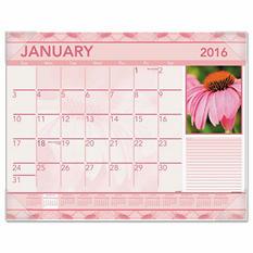 AT-A-GLANCE - Antique Floral Monthly Desk Pad Calendar, 22 x 17, Antique Floral -  2016
