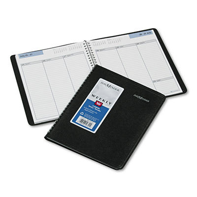 "DayMinder Recycled Weekly Planner, Jan.-Dec., Black, 6 7/8"" x 8 3/4"" -  2015"