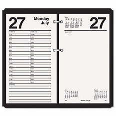 AT-A-GLANCE - Large Desk Calendar Refill, 4 1/2 x 8, White -  2016