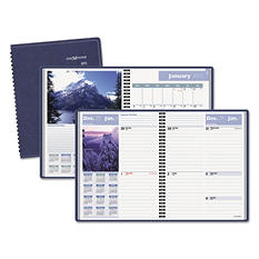 "DayMinder Recycled Scenic Weekly/Monthly Planner, Blue, 8 1/4"" x 10 7/8"" -  2015"